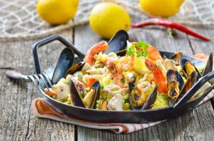 mediterrane Küche Paella